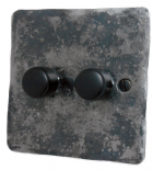 Flat Plate Rustic Dimmer Switches